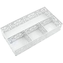 Desk Drawer Organizer With 3 Small Bins And 1 Long BinWhite Home Improvement $23.38