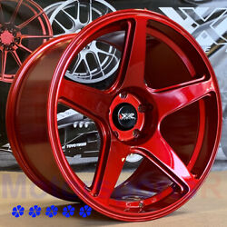 XXR 575 Wheels 18 x9.5 10.5 25 Red Staggered 5x114.3 Stance For Hyundai Genesis $598.00