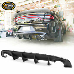 Fits 15-20 Dodge Charger SRT OE Style Rear Diffuser Bumper Valance PP