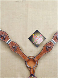 Hilason Western Breast Collar Horse American Leather Rawhide Cross Gun U-3-BC $73.99