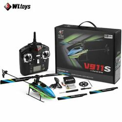 WLtoys V911s 2.4Ghz 4CH 6Aixs Gyro Single Blade Gyro Mini RC Helicopter For Kids $66.49