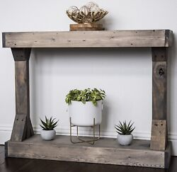 Console Hall Table Narrow Shelves Stand Rustic Farmhouse Living Room Furniture $125.49