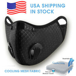 Mesh Fabric Cloth Reusable Face Mask Black Size L  XL  $12.95