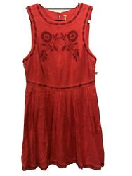 NEW Free People Paradise Coral Dress Summer Size 12 $15.00