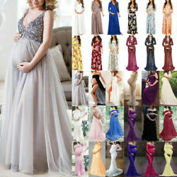Pregnant Women Maxi Dress Maternity Long Cocktail Party Lace Dresses Photography $40.37