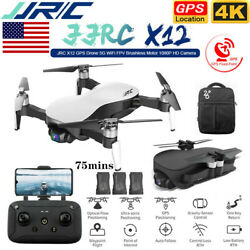 JJRC X12 GPS Drone 4K HD Camera 5G Wifi FPV Brushless 3 Axis Gimbal quadcopters $386.33