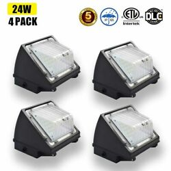 4PACK 24W Led Wall Pack Security Light Outdoor IP65 Commercial Flood Light