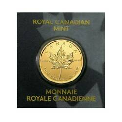 2020 Gold Maple 1 Gram Royal Canadian Mint Coin 24KT .9999 In Assay Like Bar $77.97