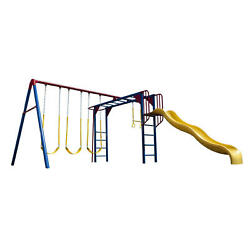 Lifetime Monkey Bar Adventure Swing Set Huge Multi Color Metal Playground Swing  $1,398.93