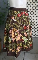 LUCKY BRAND Boho Hippie Festival Wrap Around Floral Cotton Skirt Sz XS  $11.89