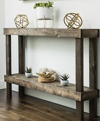 Entryway Console Sofa Table Narrow End Side Accent Rustic Living Room Furniture $164.10