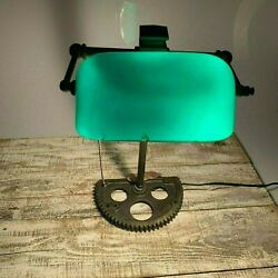 Antique Vintage Green Desk Lamp $97.00