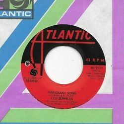 LED ZEPPELIN * 45 * Immigrant Song  Hey Hey What * 1971 * USA ORIG on Atlantic