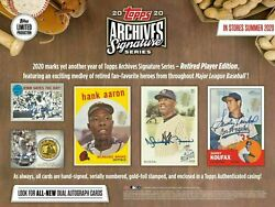 2020 Topps Archives Signature Series Retired Player Edition Factory Sealed Box $47.99