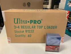 1000 Ultra Pro Regular 3x4 Toploaders sealed case Brand New top loaders $169.00