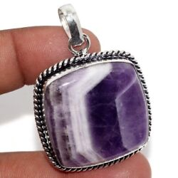 Amethyst Lace 925 Sterling Silver Plated Pendant 2
