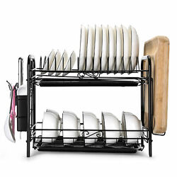Over Sink Dish Drying Rack Drainer Stainless Steel Kitchen Cutlery Holder Shelf $37.99