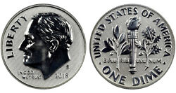 ***AMAZING COIN*** 2018 S 90% Silver reverse Proof Roosevelt Dime 200K minted $9.95