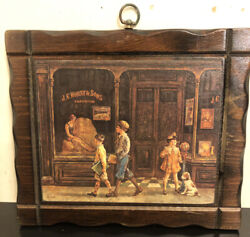 Vintage Wall Hanging Wood Plaque $20.00