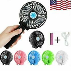 Mini Portable Hand-held Desk Fan Cooling Cooler USB Rechargeable +18650 Battery $4.74