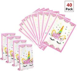 Magical Unicorn Party Favors Bags Supplies Set For Kids Themed Birthday Party $11.14