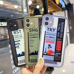Classic Plane Tcket Originality Cover For iPhone 11 Pro 7 8Plus XR XsMax Cute $10.11