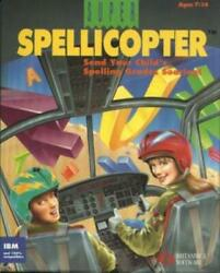 Super Spellicopter PC CD classic spelling action spell words fly helicopter game $14.99