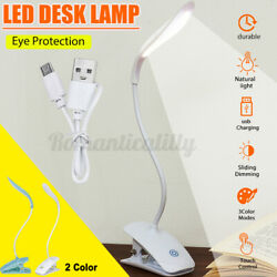 B Rechargeable Reading Light 14LED Touch Sensor 3 Mode Bed Desk Table Lamp   $10.58