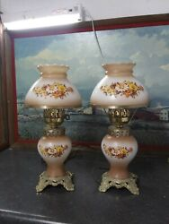 Vintage Hedco Gone With The Wind Lamp Set pair 17