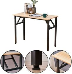 Modern Office Folding Computer Desk Writing Simple Study Industrial Style Home $74.99
