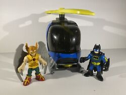 imaginext batman helicopter With Batman And Hawkman $8.00