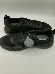 CARE OF by PUMA Men#x27;s Leather Low Top Casual Runner Mesh Shoes Black Size US14 $22.36