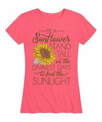 Instant Message Womens Crew Neck Short Sleeve Printed Relaxed Fit Tee Pink 2XL $4.87
