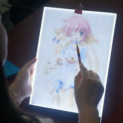 A5 led drawing tablet art stencil drawing board light box tracing table paN_es $8.26