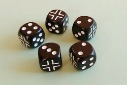 Axis & Allies German Iron Cross 5 Dice Set 16mm D6 RPG Germany WWII Army New  $12.99
