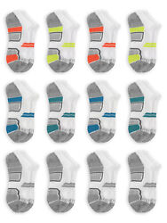 Fruit of the Loom Boys Socks12 Pack No Show Active Sizes M $24.65