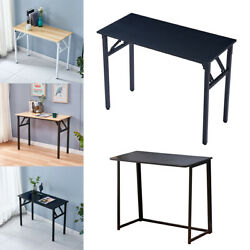 Foldable Wood Computer Desk Portable Laptop Study Writing Table For Home Office $71.99