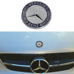 Emblem For MERCEDES-BENZ Flat Hood Ornament C E SL CLS S CLASS Logo Blue 57mm $16.98