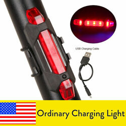 4Pcs Bike Rechargeable LED Taillight USB Rear Tail Safety Warning Flash Light $11.43