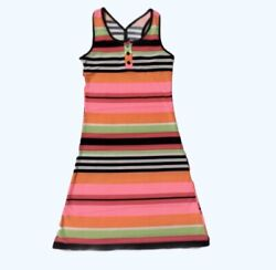Girls Beach Cover Up Striped Multicolor Size 5 $12.00