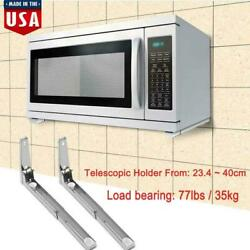 1Pair Microwave Oven Bracket Foldable Stretch Wall Mount Rack Shelf Sturdy Stand $16.59