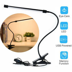 LED Clip On Lamp USB Desk Bedside Table Reading Book Lamp Dimmable Night Light $17.99