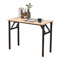 Wood Folding Computer Desk PC Laptop Table Study Workstation Home Office Table $71.69