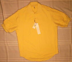 AXIS MENS SHIRT M YELLOW POLO SS STRETCH COTTON NEW NWT GOLF TENNIS COLLARED $10.74