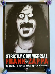 """Original 1995 Frank Zappa Strictly Commercial Promotional Poster 24"""" x 36"""" Ryko"""