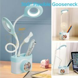 LED Desk Light Bedside Reading Lamp Dimmable Rechargeable Table Touch Control $17.99