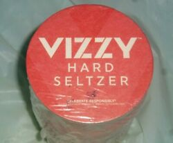 Sealed Pack of 100 VIZZY Hard Seltzer Antioxidant 4quot; Round Paper Coasters $5.99