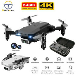 Mini RC drone 4K HD camera WiFi Fpv airpressure altitude foldable Quadcopter toy $42.99