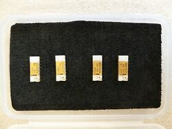 Lot of 4 Rare Vintage 1970s Intel Computer IC Chips C3405 and C3406 - gold $50.00