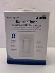 LEVITON Switch Timer W Bluetooth Technology R02 DDS15 BDW White w Wallplate